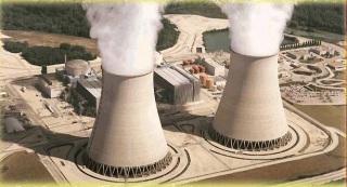 Tours de refroidissement d'une centrale nucléaire