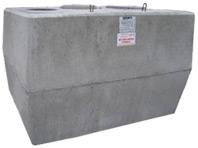 Cuve en béton à enterrer pour la récupération d'eau de pluie