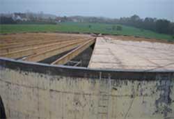 Zone de stockage pour fabriquer du biogaz