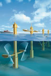 Schéma d'hydroliennes
