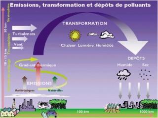 Schéma de l'acidification