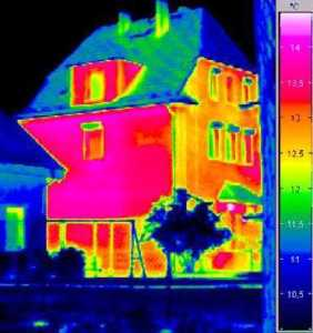 Thermographie d'une maison
